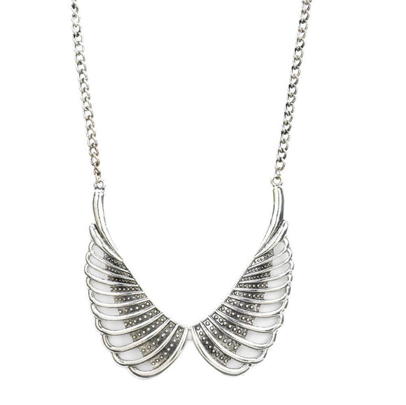 Silver Wings Necklace
