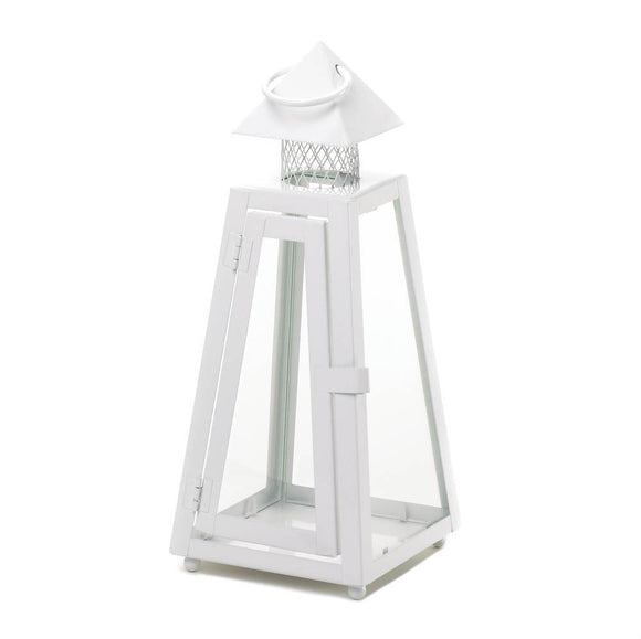 Summit White Candle Lantern