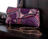 Radiant Orchid Mix Printed Clutch