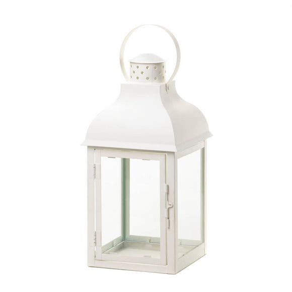 Gable Large White Lantern