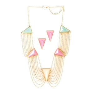 Modern Art Deco Jewelry Set