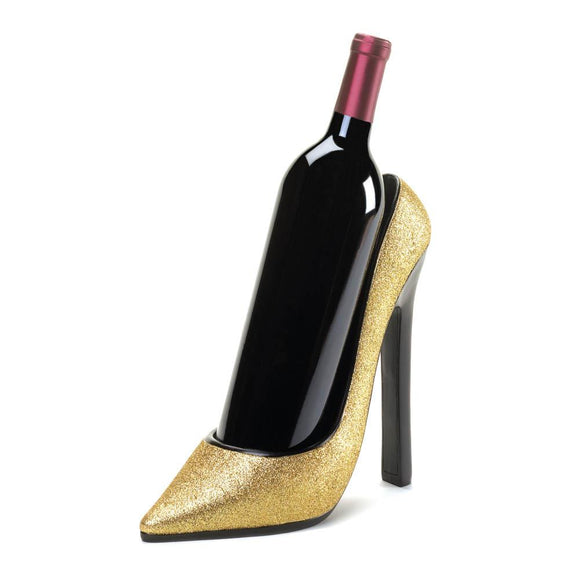 Glittering Gold Heel Wine Bottle Holder