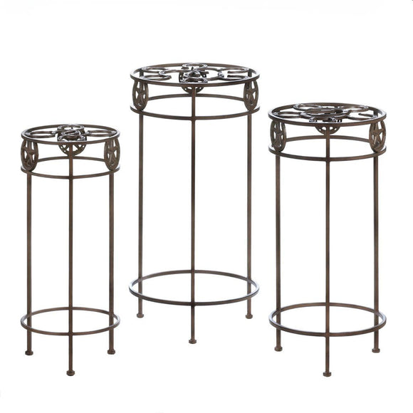 Lone Star Horseshoe Plant Stand Trio