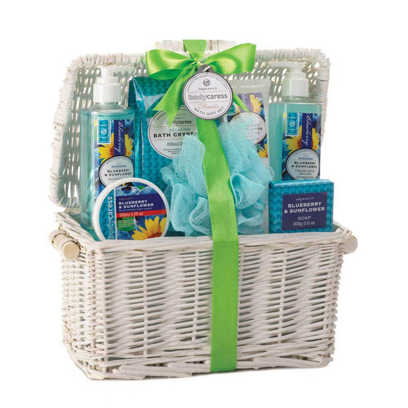 Blueberry And Sunflower Spa Basket