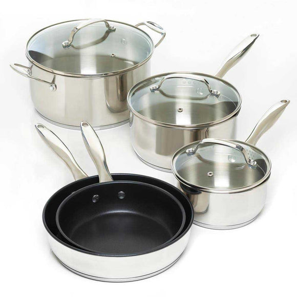 8 Pc Stainless Steel Cookware Set