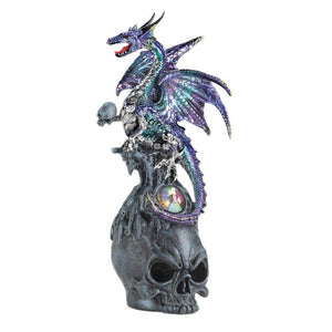 Mystical Dragon And Skull Figurine