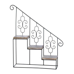 Black Staircase Wall Display