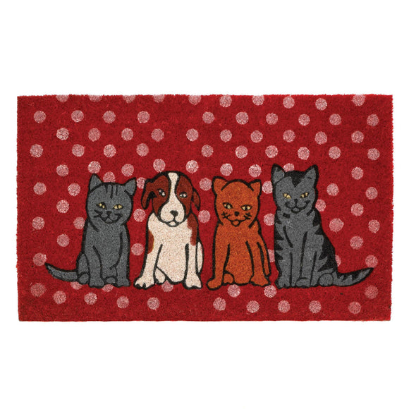 Dogs And Cats Welcome Mat