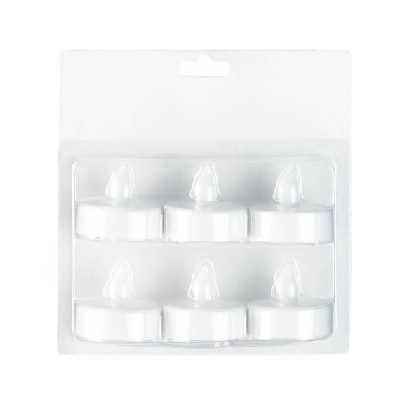 White Led Tealight 6 Pack