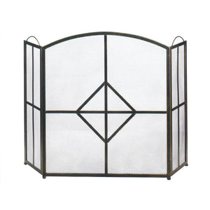 Diamond Fireplace Screen