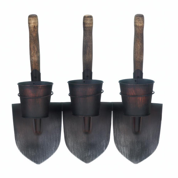 3 Shovels Wall Planters