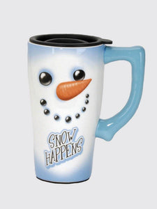 Snow Happens Travel Mug