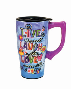 Live Laugh Love Travel Mug