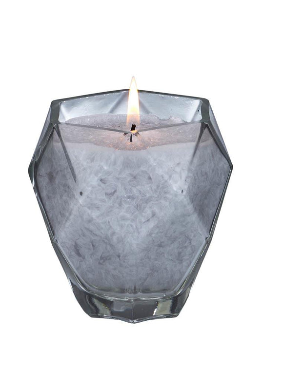 Moonstone Jewel Glass Candle