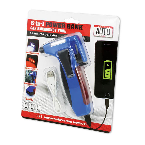 6 In 1 Car Emergency Tool Wpower Bank