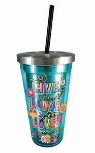 Live Laugh Love Stainless Steel Cup