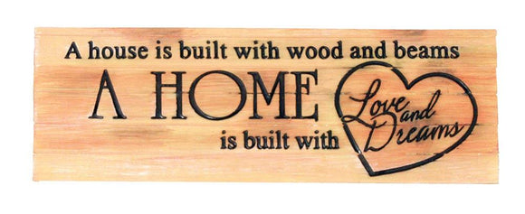 House And Home Decorative Sign
