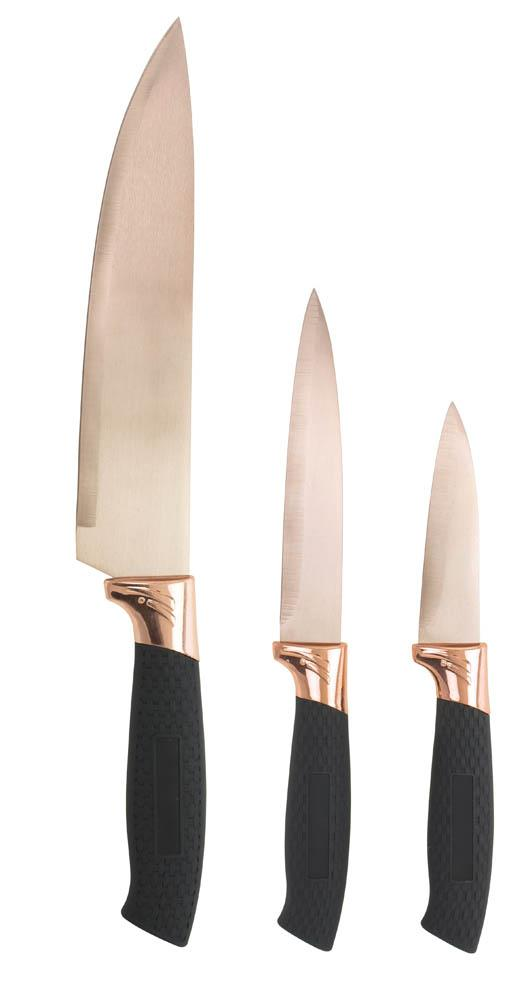 Copper Blade 3 Pc Knife Set