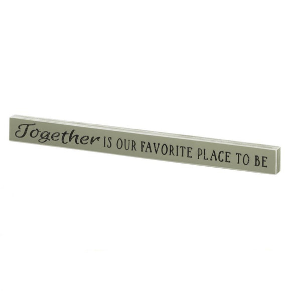 Together  Wooden Sign