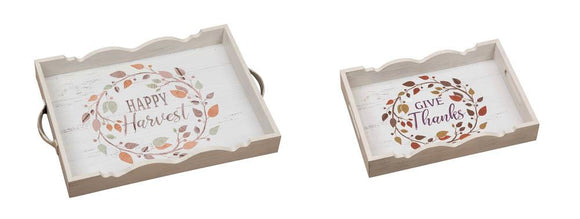 Harvest Serving Trays Set Of Two