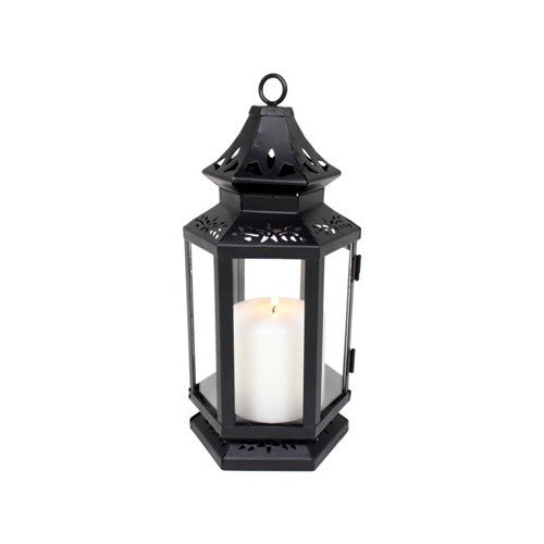 Medium Black Stagecoach Lantern