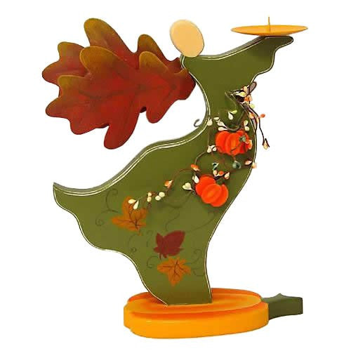 Autumn Angel Candle Holder