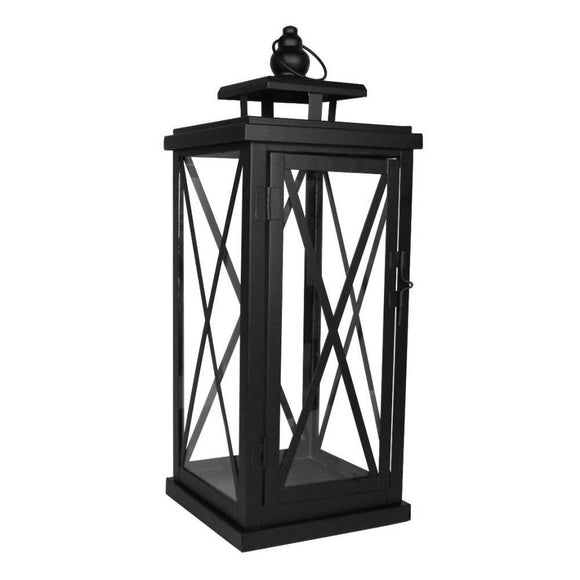 Medium Black Woodside Lantern