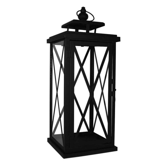Large Black Woodside Lantern