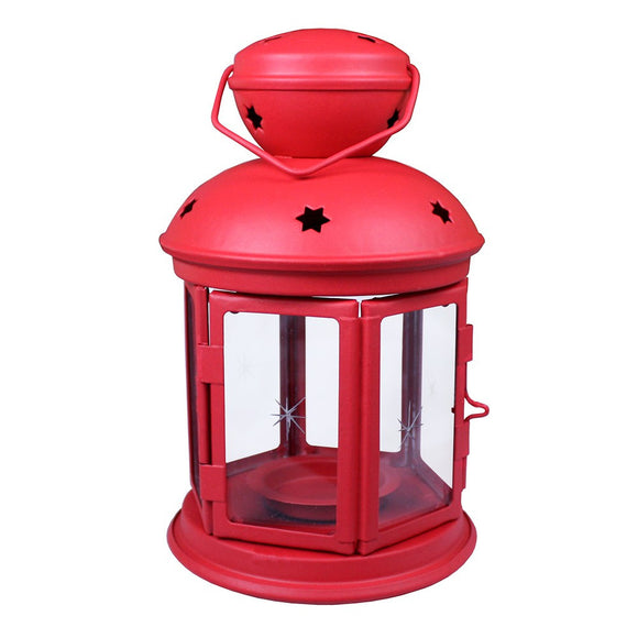 Rustic Red Colonial Lantern
