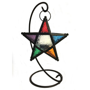 Multicolored Star Table Lantern
