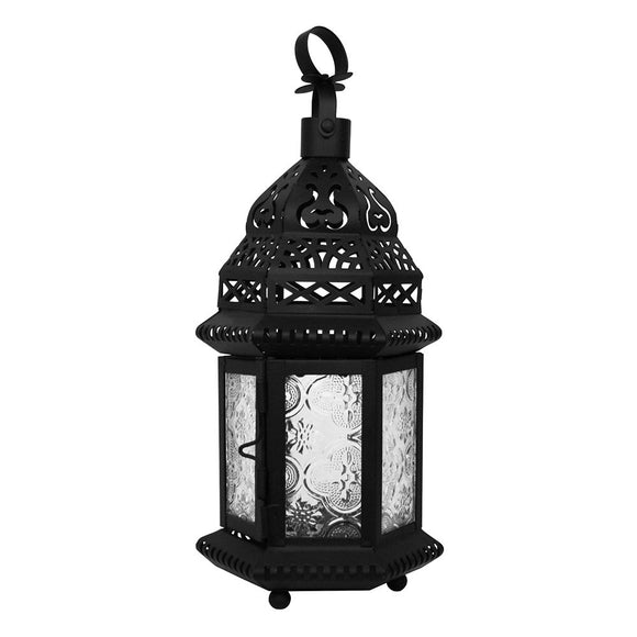 Small Moroccan Lantern with Embossed Glass