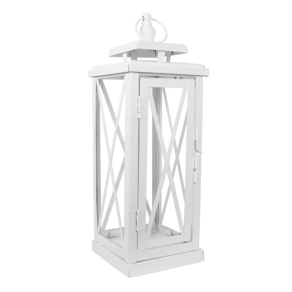 Small White Woodside Lantern