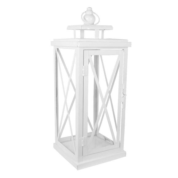 Medium White Woodside Lantern