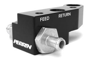 Perrin 08-15 Subaru STi Black Fuel Rail Top Feed Style Kit *OFF ROAD ONLY*