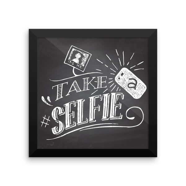 Take a #Selfie! Framed chalkboard sign for weddings, parties, and events.