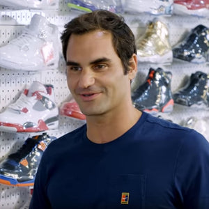 Roger Federer buys $5000 worth of Shoes, talks Jordan, Agassi and more
