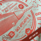 El Death Rey Supperclub Vintage Retro Future T-Shirt Men's Mars Red Detail
