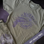 El Death Rey Supperclub Vintage Retro Future T-Shirt Men's Metallic Purple