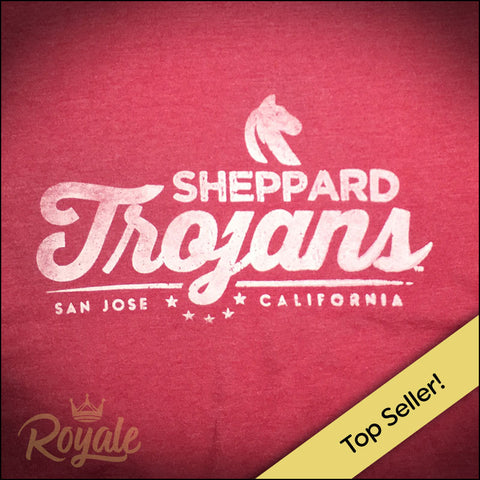 Sheppard Trojans Middle School San Jose Unisex TShirt Men Women