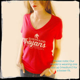 Sheppard Trojans San Jose California Vintage Adult Ladies V-neck