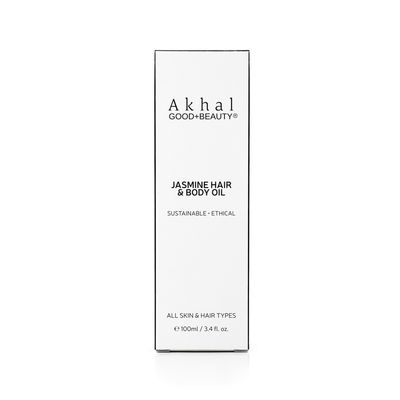 Cruelty Free Vegan Jasmine Hair & Body Oil | Akhal Beauty