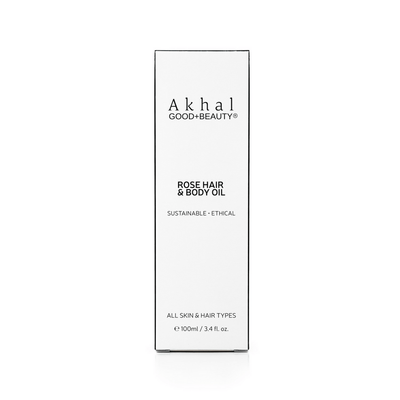 Vegan Cruelty Free Rose Hair & Body Oil | Akhal Beauty