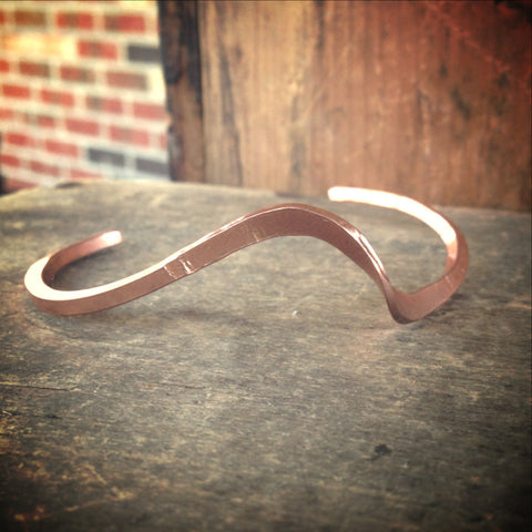 Copper Bracelet, Single Wave