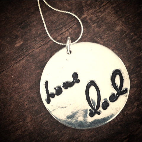 Actual Writing Jewelry - Child's or Loved One's Handwriting Pendant