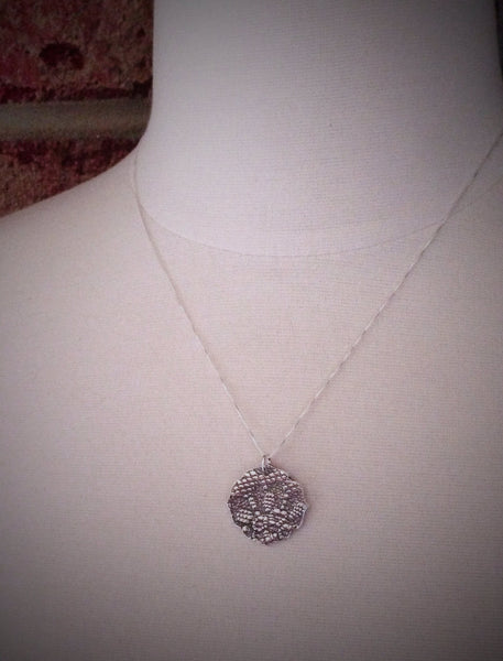 Wedding Dress Lace Heirloom Necklace - Actual Lace - Personalized Jewelry