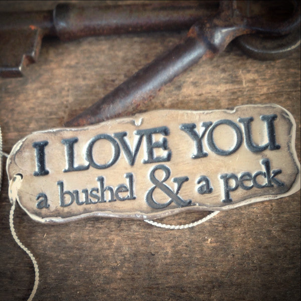 I Love You a Bushel and a Peck, Silver Affirmation Jewelry, Fine Silver Necklace