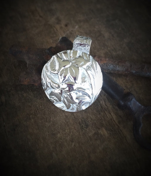 Daffodil Pendant - Spring Jewelry - Necklace in Handmade Fine Silver