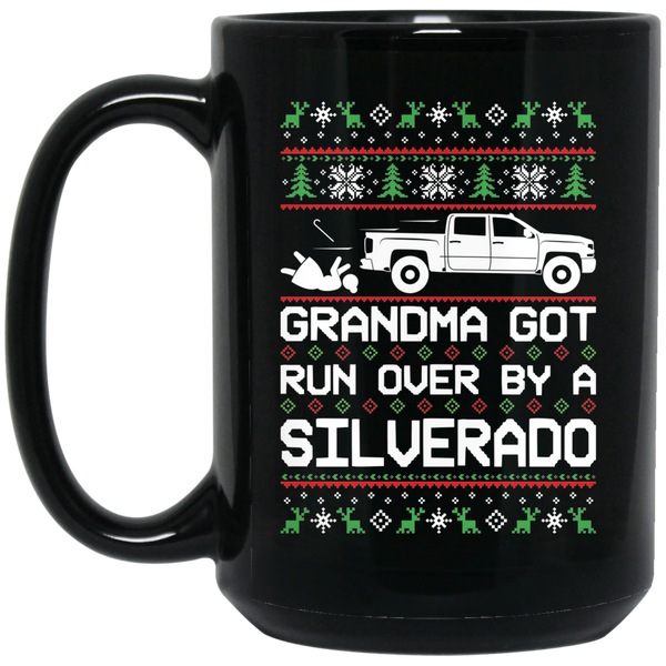 Wheel Spin Addict 2016 Silverado 1500 2500 Truck Christmas 15 oz. Black Mug