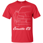 C3 Corvette Outline T-Shirt New