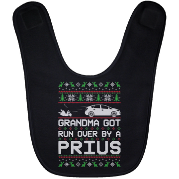 Wheel Spin Addict Prius Christmas Baby Bib